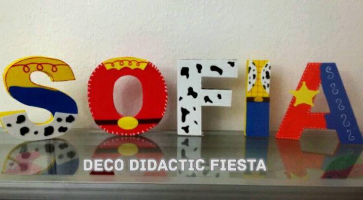 Toy Story, Jessy la vaquerita, letras decoradas, FIESTA/PARTY