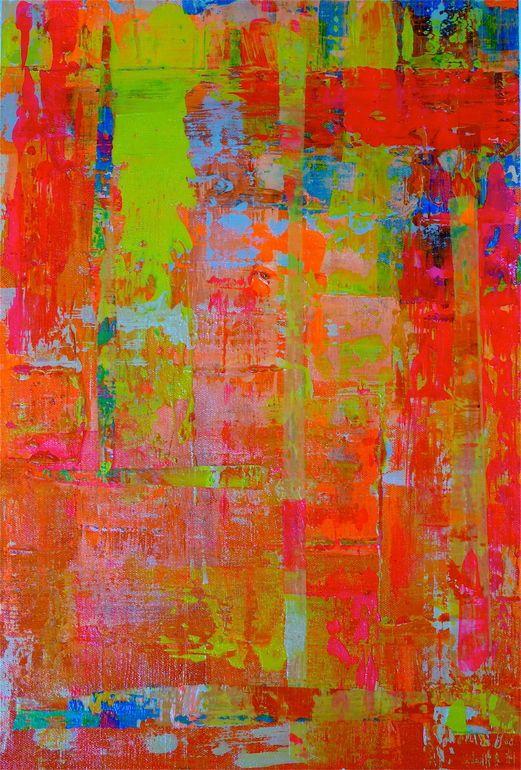 "Saatchi Art Artist: Jennifer Wiegand; Acrylic 2013 Painting ""Alegria 1 ( Happiness 1)"""