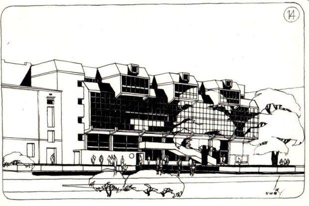 Koncepcja zabudowy przy ul. Piotrkowskiej. Arch. Bolesław Kardaszewski