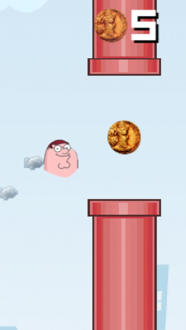 Flappy Family Guy Peter made with Flying Avatar! http://www.flyingavatar.com  #familyguy #flyingavatar #flappybird