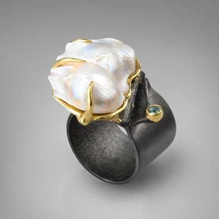 Pearl and sapphire-German Kabirski
