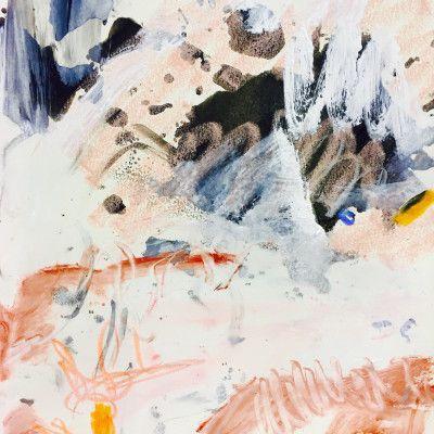 Andjana Pachkova, Kimberly Landscape,  2017, Mixed Media on Paper, 26 x 36 cm - $150 (Unframed)  www,stanleystreetgallery.com.au