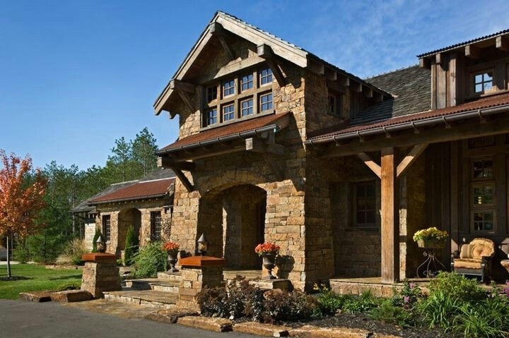 Rustic house exterior houses and plans pinterest for Rustic home exteriors