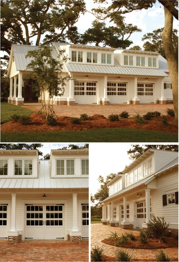dream-house: House Ideas, Guest House, Garage, Living Room, Carriage Doors, Room Design, Carriage House, Metal Roof