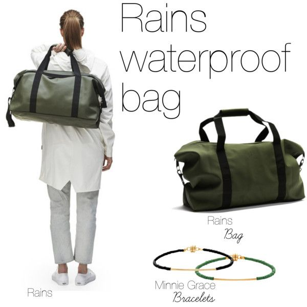 """Rains waterproof bag"" by la-luce"