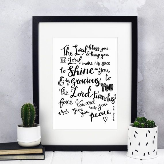 The Lord bless You And Keep You Print  Christian Gifts