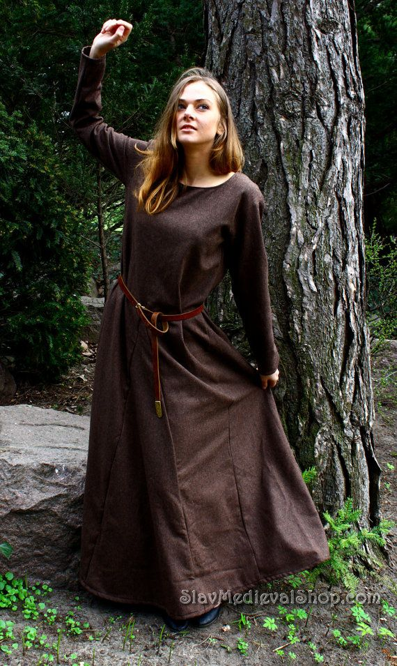 """Medieval Dress """"Young nun """" , Cotte of 13th century, medieval dress, historical pattern, great for reenacting, elves dress, gothic dress"""