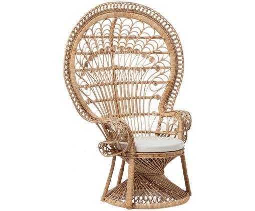 Machen Sie Ihr Wohnzimmer mit Sessel Peacock aus Rattan zur Wohlfühloase. Entdecken Sie weitere Möbel von KARE auf >> WestwingNow.