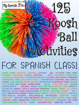 I have discovered that using a koosh ball in my lessons somehow adds fun and variety that students really enjoy! I, personally, like the koosh ball because it is easy to toss around; however, you do not have to use a koosh ball for these activities.