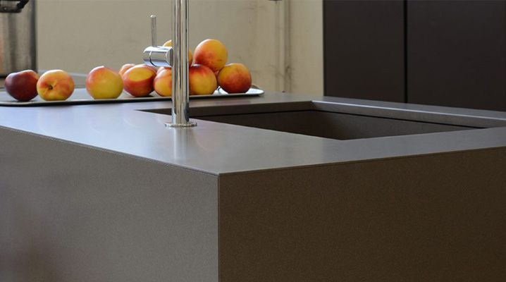 """Giza"" Piano #cucina in #Lapitec by Maistri"