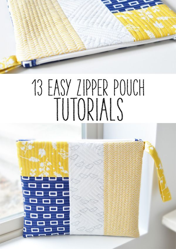 13 Easy Zipper Pouch Tutorials to sew up some quick but lovely handmade gifts for your friends and family. If there is one thing to sew it