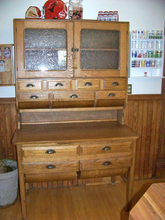 Furniture Inspiration: Oak Pot Belly Bakers Cabinet