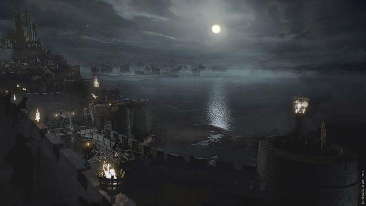 Battle of the Blackwater — Game of Thrones season 2 concept art from Karakter Design Studio