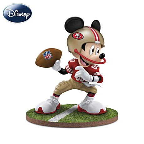 Mickey Mouse San Francisco 49ers Quot Quarterback Hero Quot Figurine 49ers Nfl San Francisco 49ers