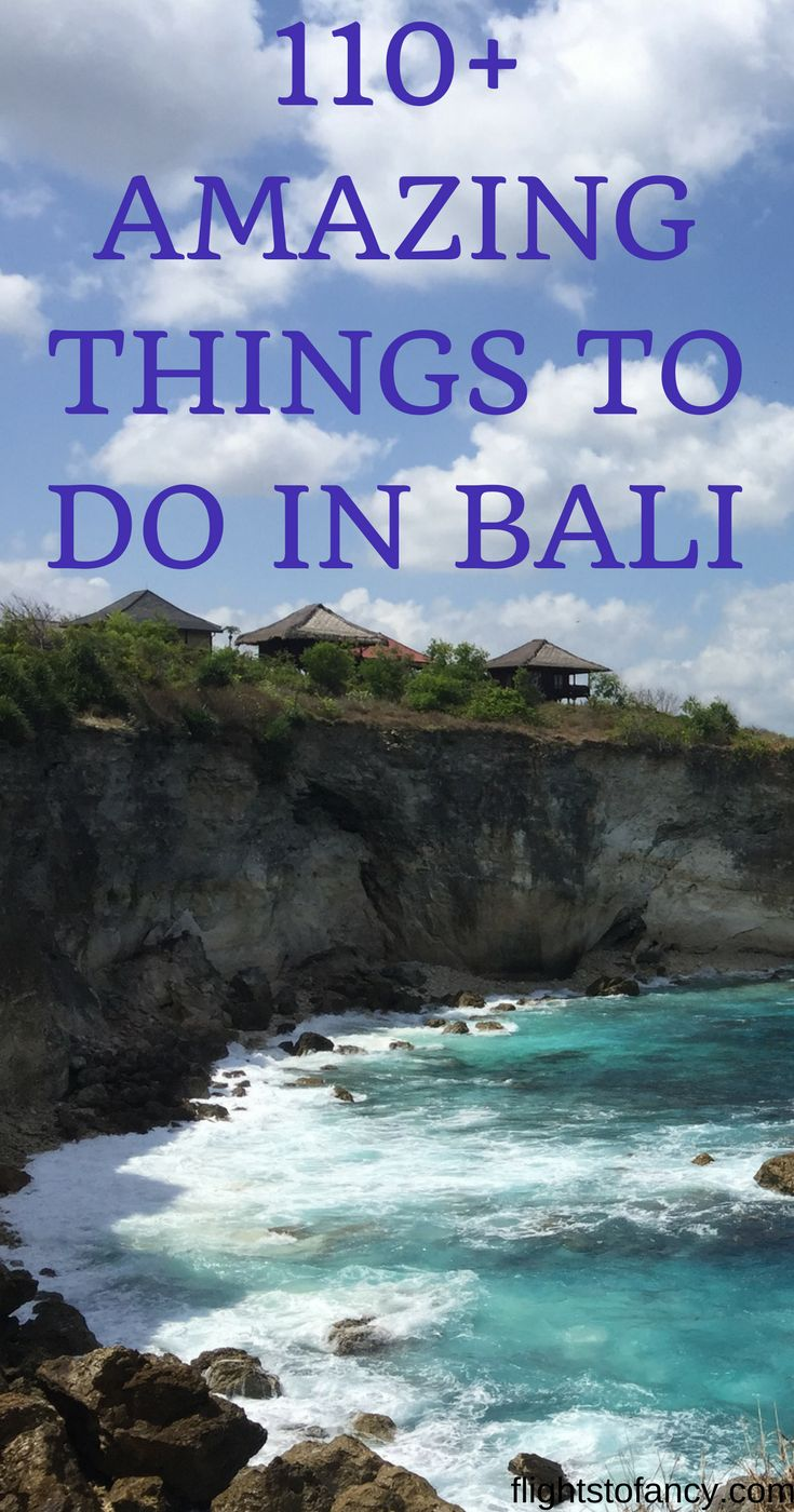 Planning a trip to Bali? All the inspiration you need to plan an epic visit is in this one post. My ultimate list of 110+ things to do in Bali covers everything and has something for everyone. Head to the blog for all the details. #bali #indonesia #thingstodoinbali #travel #traveltips #travelblogger