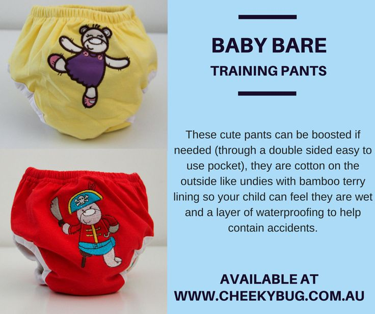 Looking to toilet train over the summer? These cute pants can be boosted if needed (through a double sided easy to use pocket), they are cotton on the outside like undies with bamboo terry lining so your child can feel they are wet and a layer of waterproofing to help contain accidents. Available at Cheeky Bug for $15 in size small or large. http://www.cheekybug.com.au/shop/toilet-training.aspx