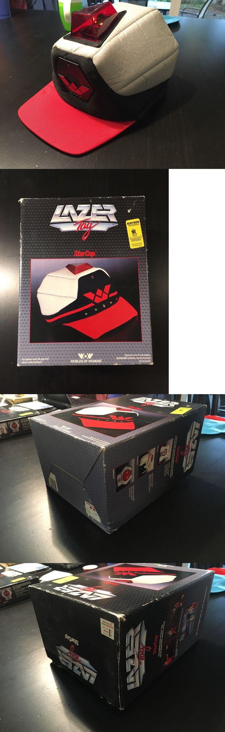 Laser tag 168245 vintage 1986 wow lazer tag starcap w box