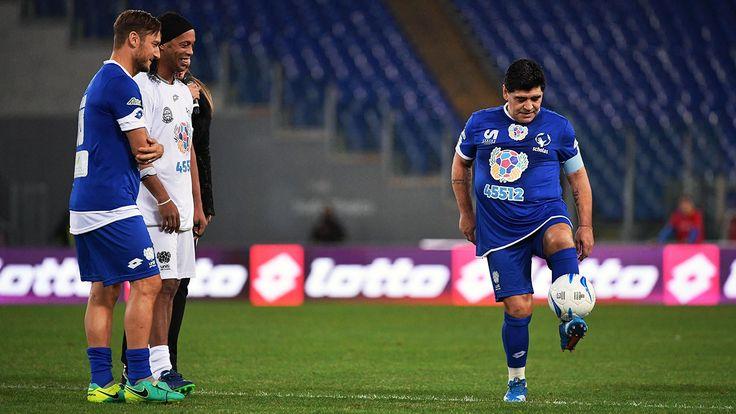 Francesco Totti, Ronaldinho & Diego Maradona