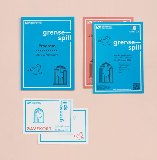 Fagerborgfestspillene by Mathilde Abelson Sahlén and Sofie Ensby Rostad, via Behance