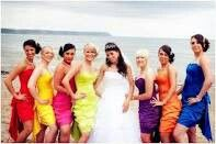 I love color and its hard to.settle on just one, I also want each bridesmaid to stand out as an individual but keep some uniformity, either dif dress same color or same dress dif color...