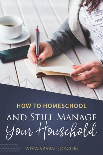 Do you struggle to homeschool and manage your household? This post from Amber Fox, author of The Homeschooling Housewife is full of tips to help you manage your house while you homeschool! #homeschool #motherhood