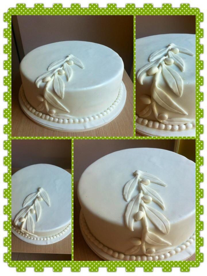 WEDDING OLIVE  THEME CAKE