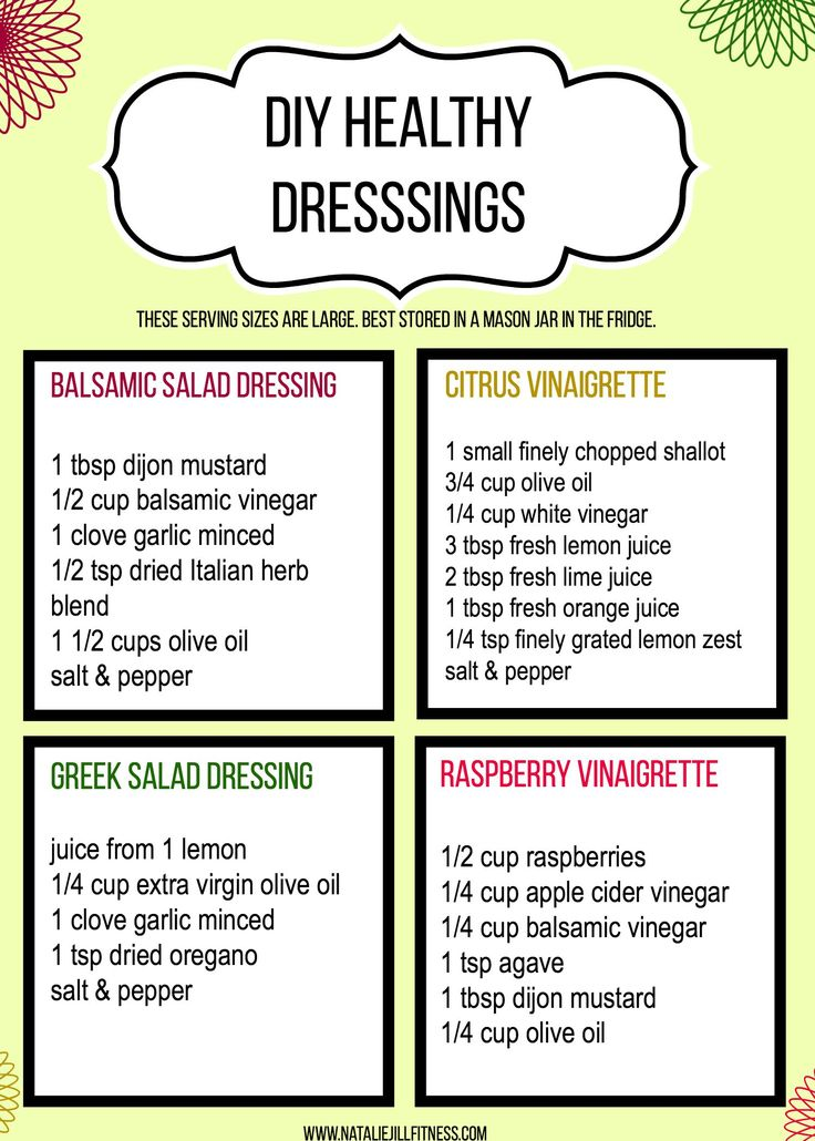 These DIY gluten free, healthy salad dressings take less then 5 mins to whip up! Follow the directions, add into mason jar or jar with lid & shake! Store in fridge & shake before use!