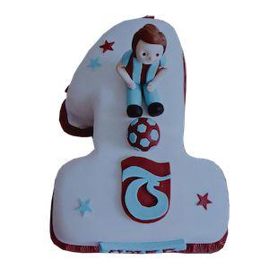 1 yaş Trabzonspor taraftar doğum günü pastası, 1 yaş butik pasta, ankara butik pasta, 1 yaş doğum günü pastası, Morde 1 yaş Trabzonspor taraftar pastası