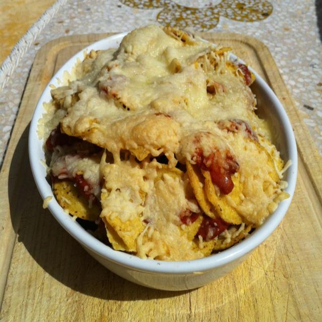 Homemade nacho's, very tasty!!