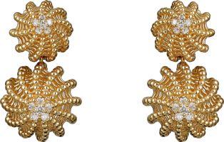 Cactus de Cartier Ohrringe Gelbgold, Diamanten