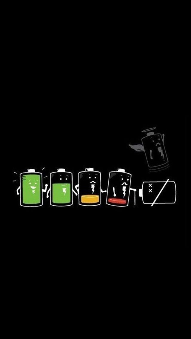 Battery Life Cycle Funny #iPhone #5s #wallpaper