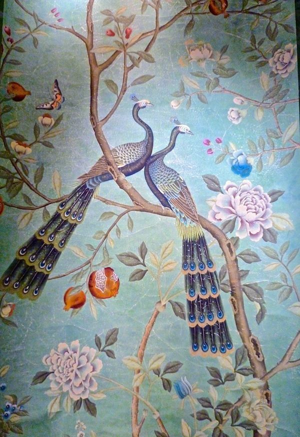 Via Quintessence ~ETS #wallpaper #peacocks #stunningdecor