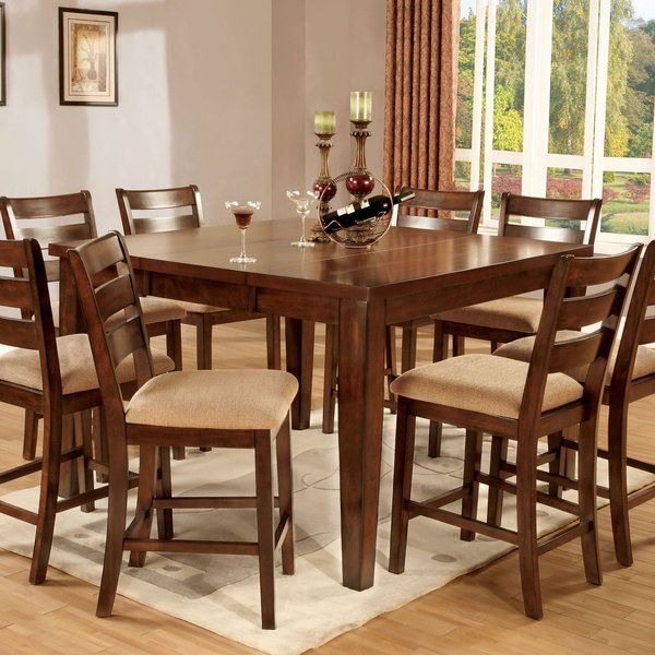 Pristine 7 Piece Extendable Dining Set Counter Height Dining