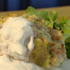 Recepten - Gevulde aardappel met Noordzeegarnalen