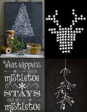 Kerstmis krijtbord ideeën