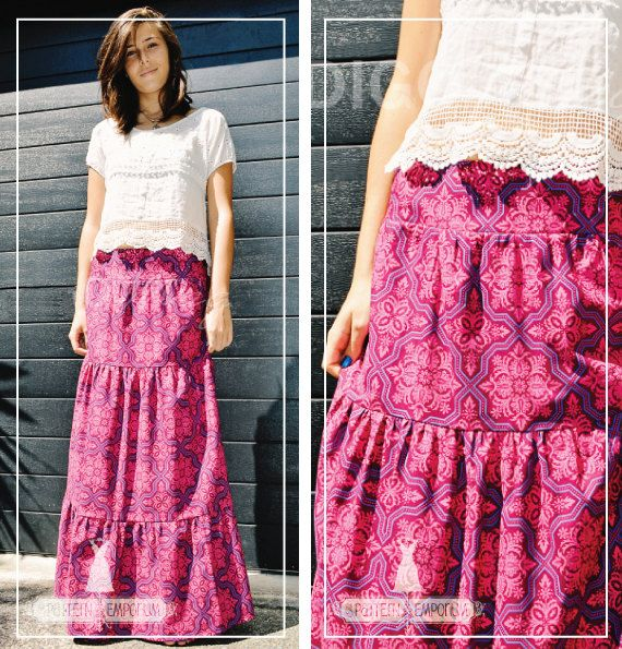 pdf pattern tiered maxi skirt pattern by
