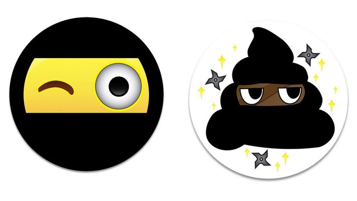 Amazon.com: Fridge Emoji Face Magnets, 2 Ninja Emojis 2.25 inch Magnet, Funny & Cute Refrigerator Kitchen Magnets for Home Decor, Office Gift for Men & Women, School Lockers, or Kids Party Favors, Made in USA: Kitchen & Dining