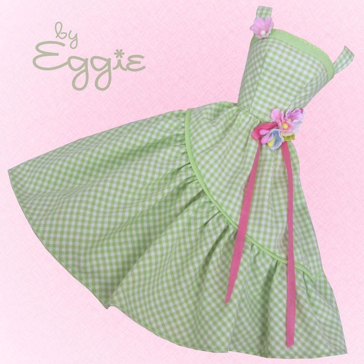 Spring Green - Vintage Barbie Doll Dress Reproduction Repro Barbie Clothes