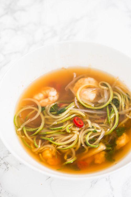 Tom Saab Goong with Spiralized Zucchini (Spicy Clear Soup with Mein Blog: Alles rund um die Themen Genuss & Geschmack Kochen Backen Braten Vorspeisen Hauptgerichte und Desserts # Hashtag