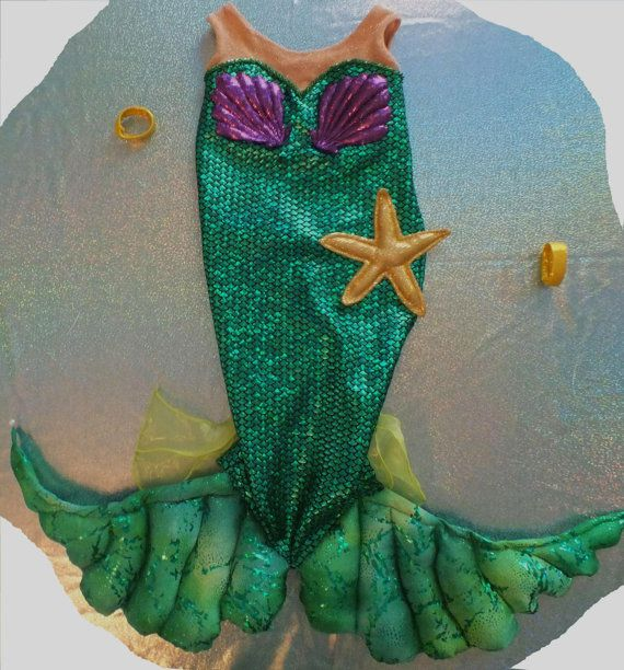 girl's custom size shimmering Ariel little mermaid  irridescent scale fabric gown costume for dress up or pageant toddler to child sizes on Etsy, $111.00