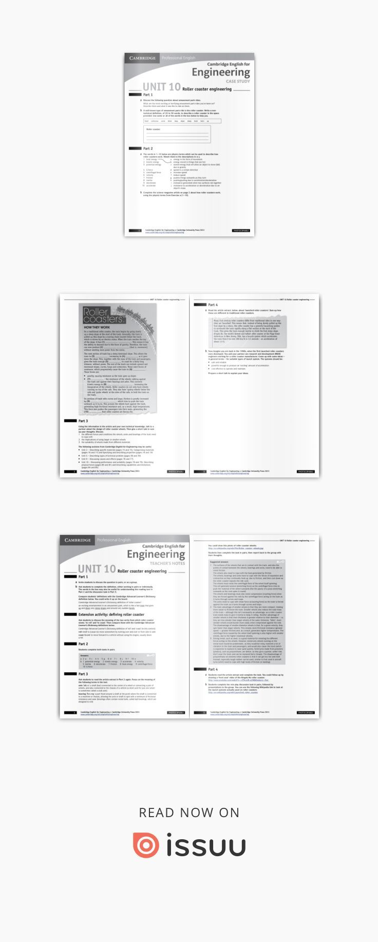 Cambridge English For Engineering Worksheet Roller Coaster