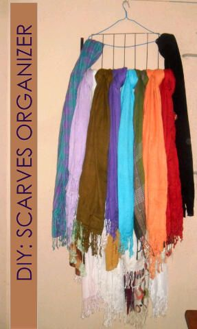 Scarf Organizer How to organise your scarves or hijabs!