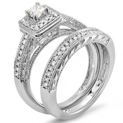 34 Grams Unique Diamond Set: Wedding & Engagement Rings Images On
