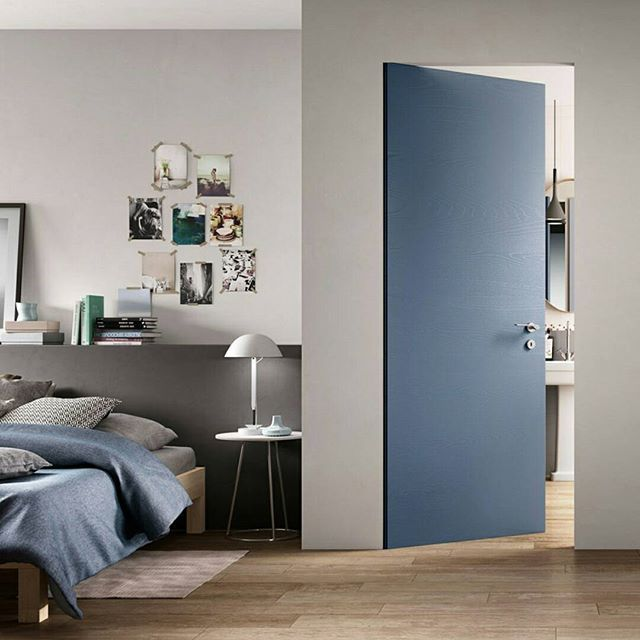 When fortune knocks open the door!  10 shades of blue on #DesignbestMagazine 🔝10  Equa Zero door, FerreroLegno  #designbest #doorinspiration #interioridea