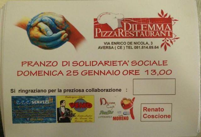 pranzo di solidarietà sociale