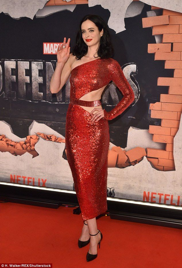 Krysten Ritter attends Marvel's The Defenders NYC premiere | Daily Mail Online
