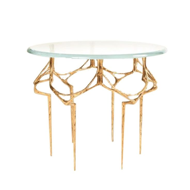 High Quality Colette Side Table Contemporary, Glass, Metal, Side Table By Niba Home Amazing Design