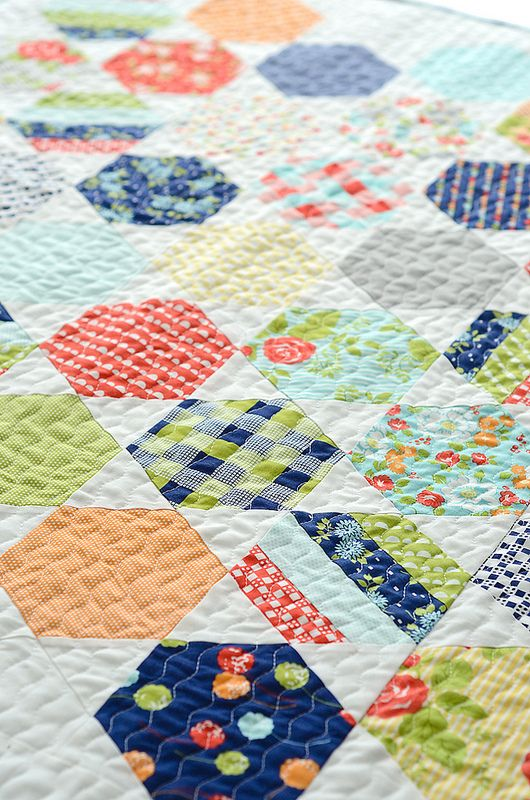 Basic hexi talk. The versatile hexagon is great for both modern and traditional quilters. Here are some easy tips for creating heirloom quilts with this classic shape.