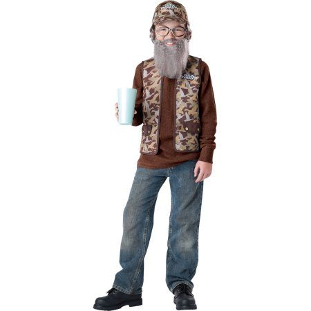 Duck Dynasty Uncle Si Boys Child Halloween Costume, One Size, S (4-6), Multicolor