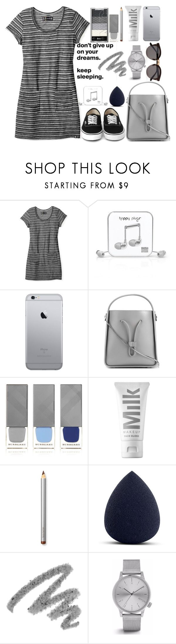 """T-Shirt Dress \\ QOTW. Do you work out?"" by missbeth1897 ❤ liked on Polyvore featuring Smartwool, Happy Plugs, 3.1 Phillip Lim, Burberry, MILK MAKEUP, Laura Mercier, Yves Saint Laurent, Komono and Illesteva"